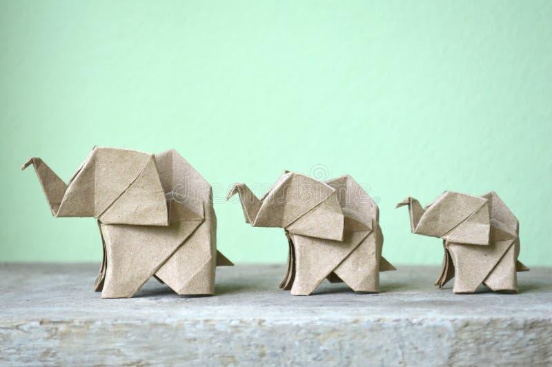 Brown origami słoń fotografia royalty free