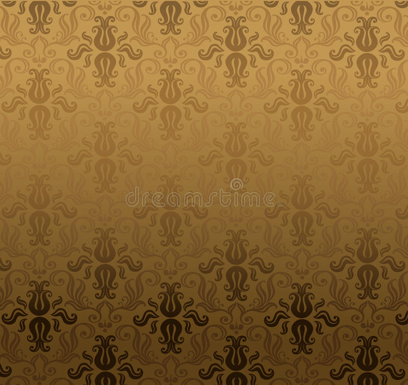Brown ornamental pattern stock illustration