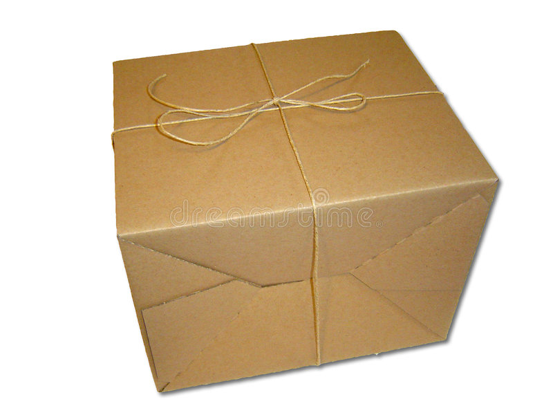 Brown Package stock photography