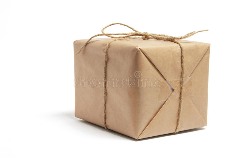 Brown Package Tied with String royalty free stock photography