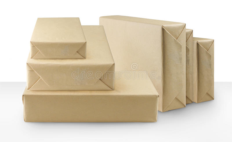 Download Brown packages stock photo. Image of packaging, gift - 17178118