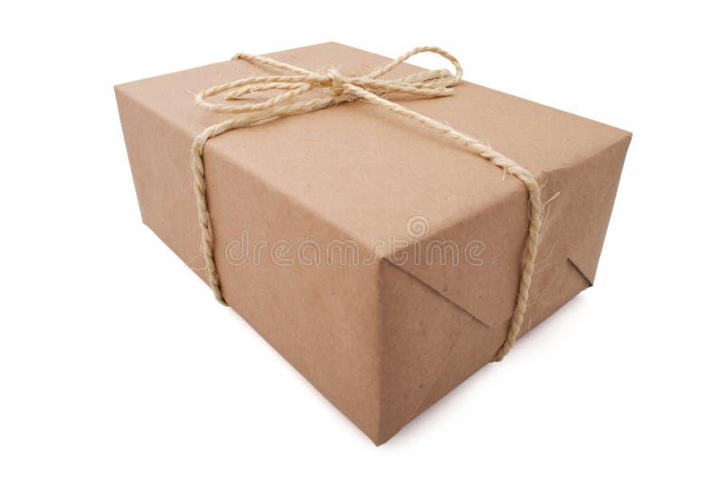 Brown-Paket lizenzfreie stockbilder