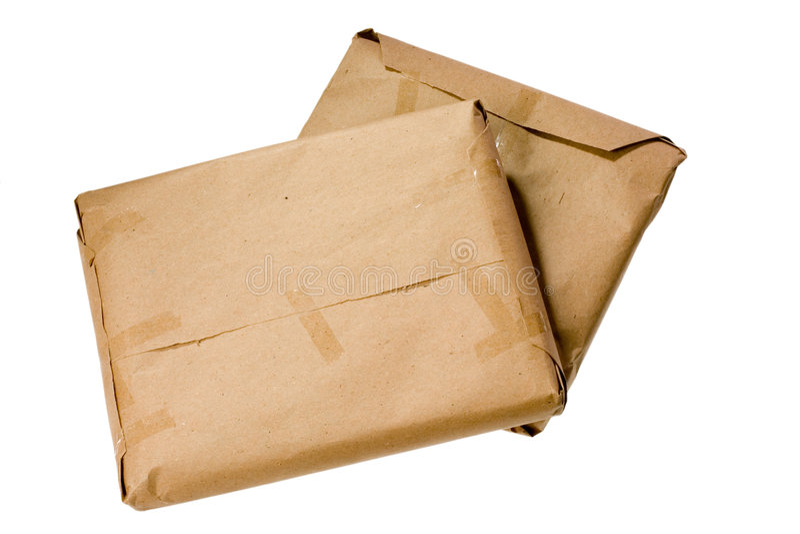 Brown-Pakete stockfoto