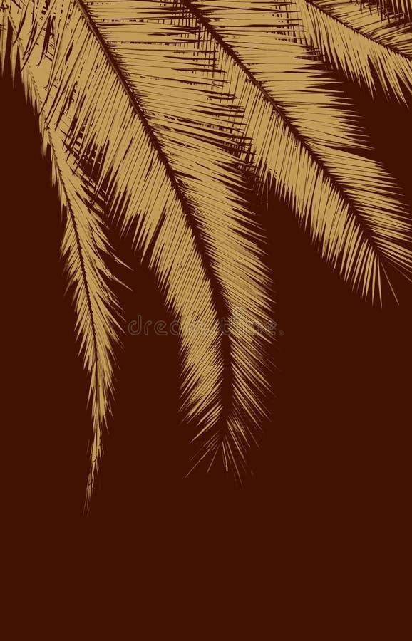 Download Brown-Palmblätter stock abbildung. Illustration von paradies - 26357576