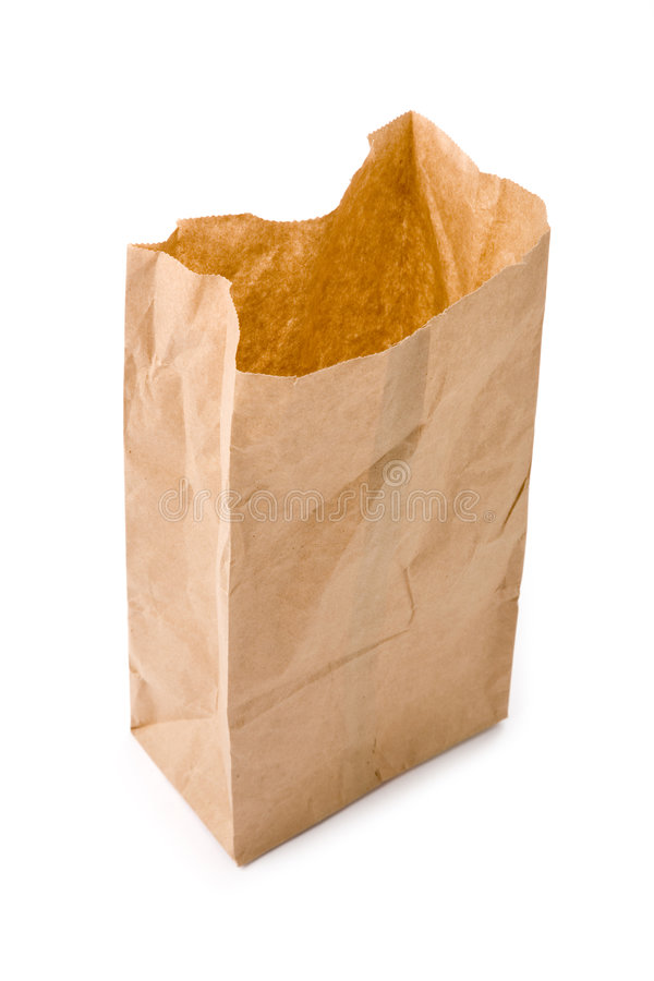 Download Brown paper bag stock image. Image of bagging, isolated - 2317075