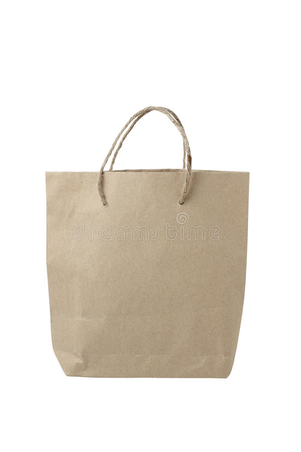 Download Brown Paper Bag stock photo. Image of objects, isolated - 25267156