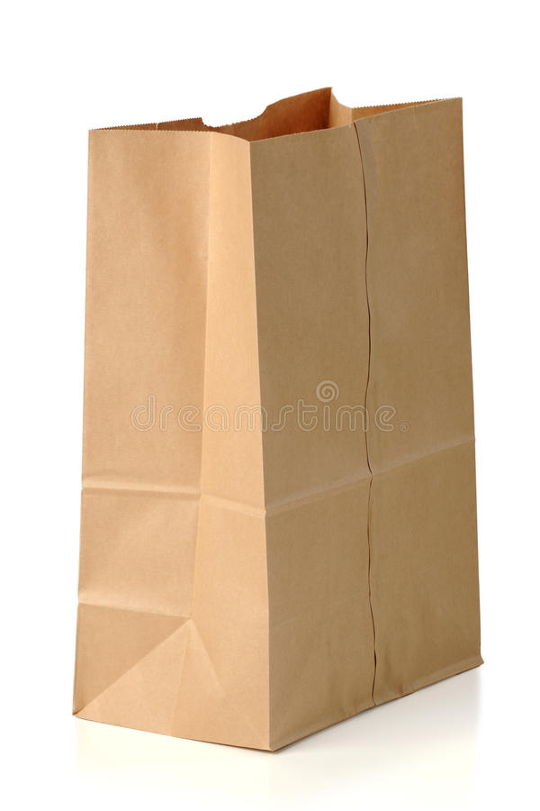 Download Brown Paper Bag stock image. Image of disposable, recycling - 28609017