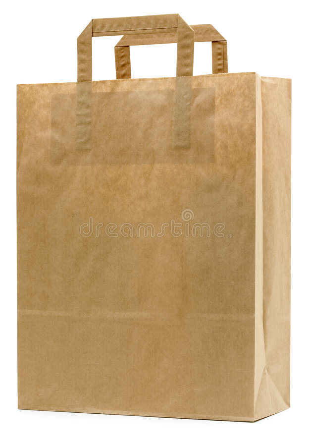 Download Brown Paper Bag stock image. Image of path, clipped, paper - 3582517