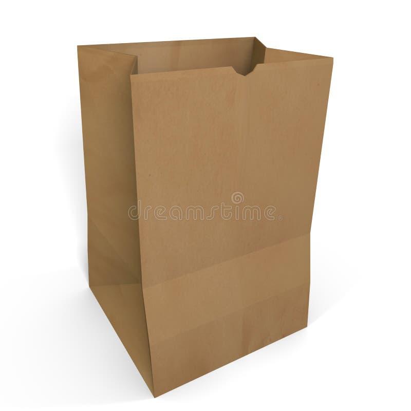 Brown Paper Bag royalty free illustration