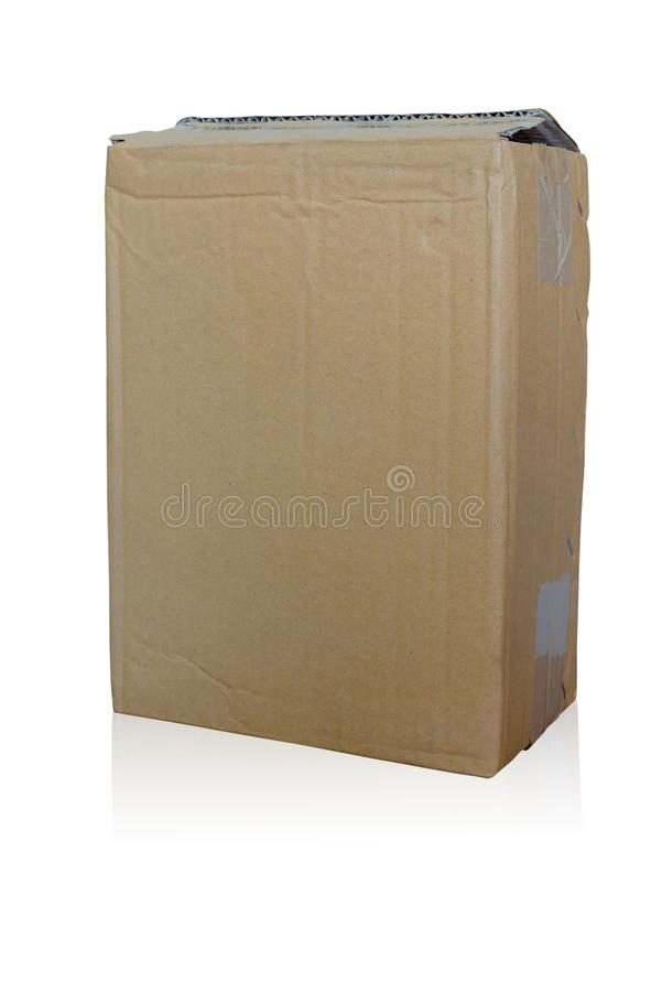 Brown Paper Box stock images