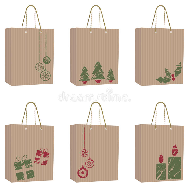 Download Brown paper christmas bags stock vector. Illustration of christmas - 11609339
