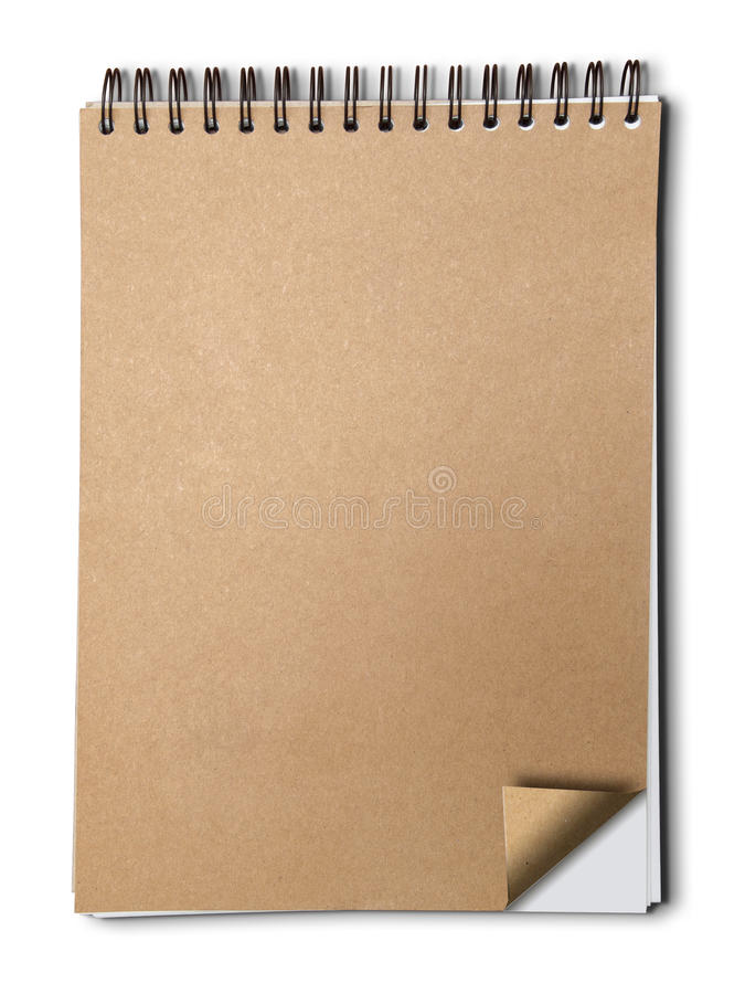 Brown paper cover note book royalty free stock photo
