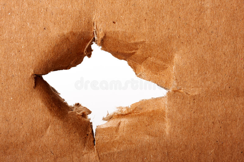 Download Brown paper with hole stock photo. Image of expose, opening - 7018190