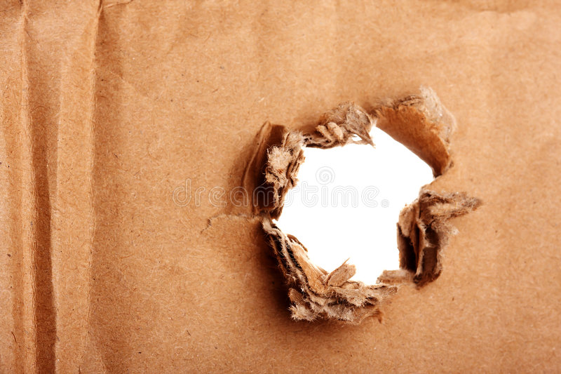 Download Brown Paper With Hole Stock Image - Image: 7018301