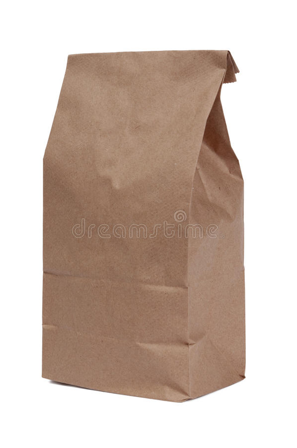 Download Brown Paper Bag On White Royalty Free Stock Image - Image: 22748186
