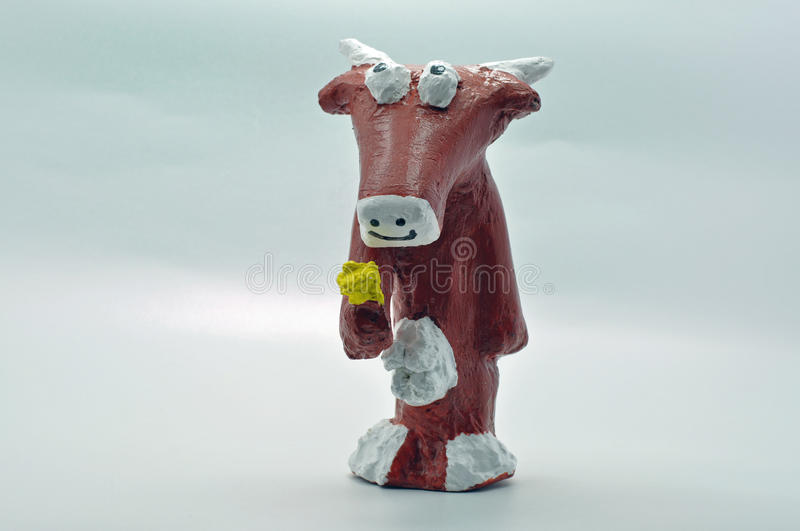 Download Brown paper mache cow stock photo. Image of make, craft - 37122010