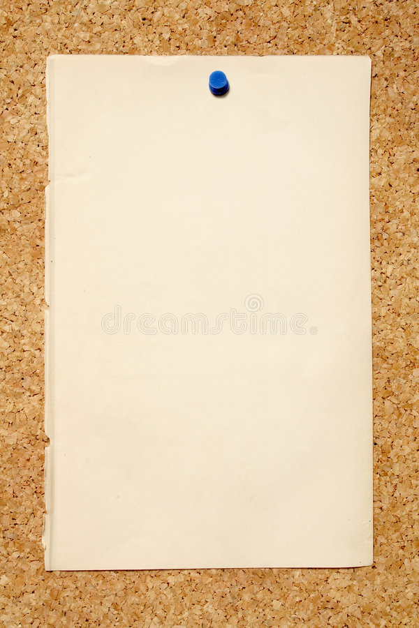 Download Brown Paper On A Noticeboard. Stock Photo - Image: 2332232