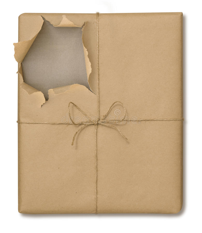 Free Brown Paper Package Opened Royalty Free Stock Photos - 9421328
