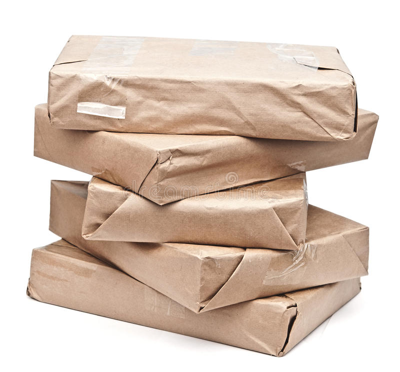 Download Brown paper packages stock image. Image of packet, correspondence - 26705431