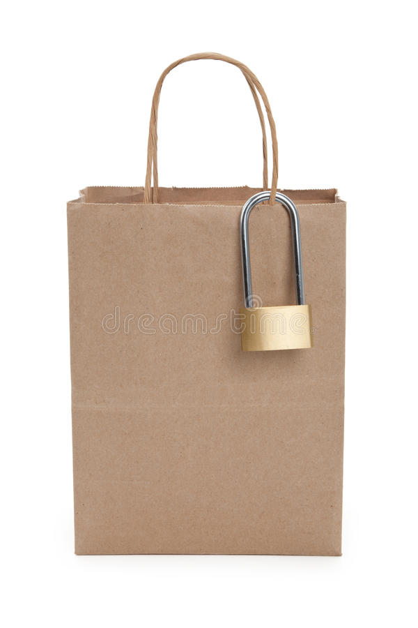 Download Brown paper shopping bag stock photo. Image of brown - 14858766