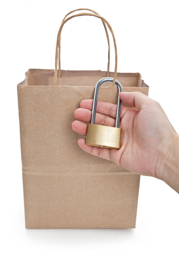Download Brown paper shopping bag stock photo. Image of background - 14858774