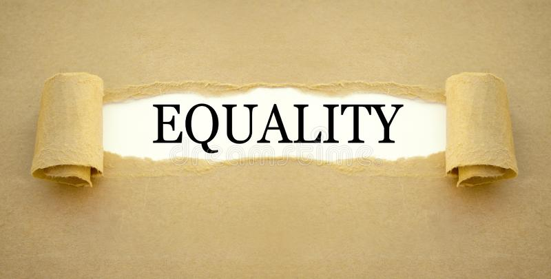 Paper work with the word equality royalty free stock images