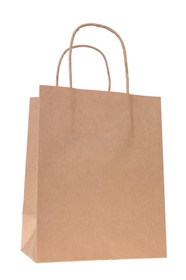 Brown-Papier-Einkaufstasche Stockbild - Bild von ebene, weiß: 22878977
