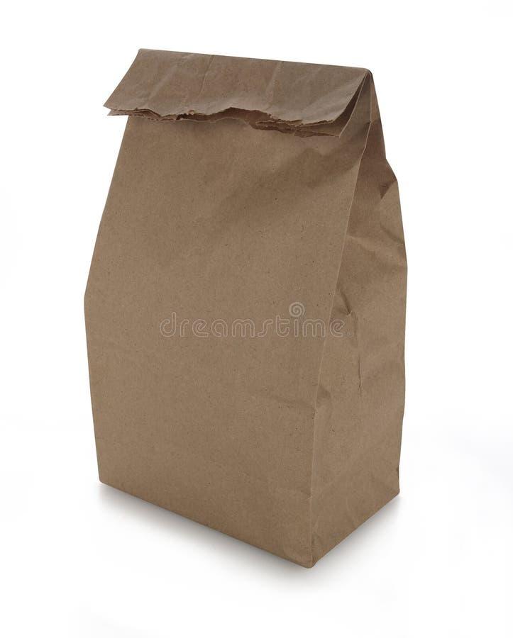 Brown-Papier-Mittagessen-Beutel lizenzfreies stockfoto