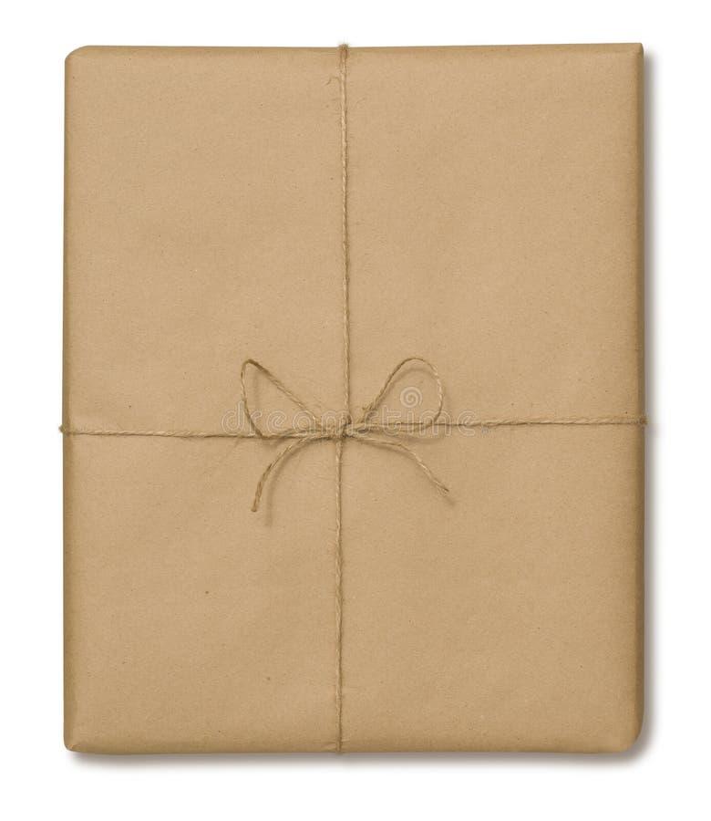 Brown-Papier-Paket stockbild
