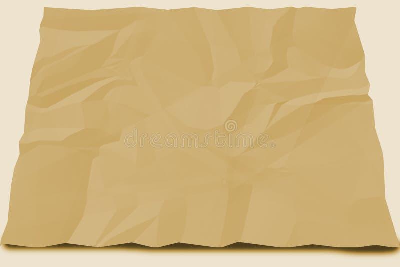 Brown-Papier zerknittert stock abbildung