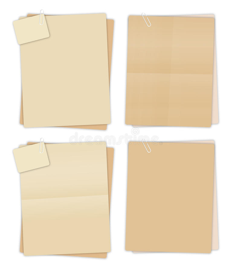 Brown-Papiere lizenzfreie abbildung