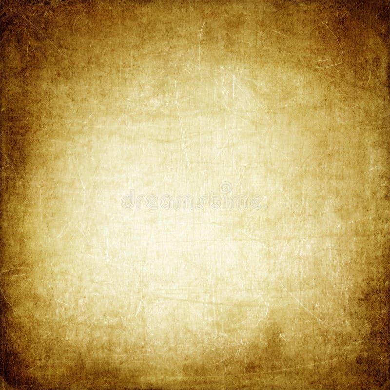 Brown-Papierhintergrund, Weinlese, Retro-, altes Papier, Flecke, Kratzer, freier Raum, beige, antik stockbild