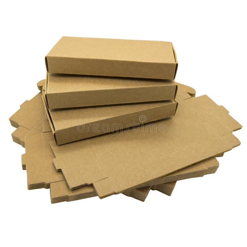 Brown-Papierkästen stockbild