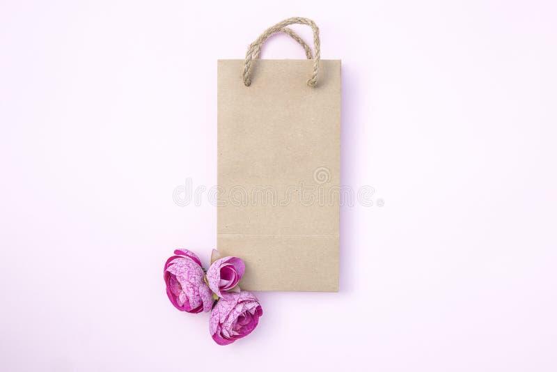 brown papierowej torby szablonu mockup obraz royalty free