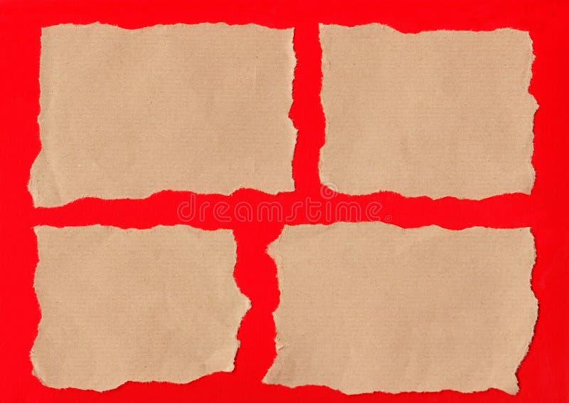 Brown-Papierrisse lizenzfreie stockfotografie