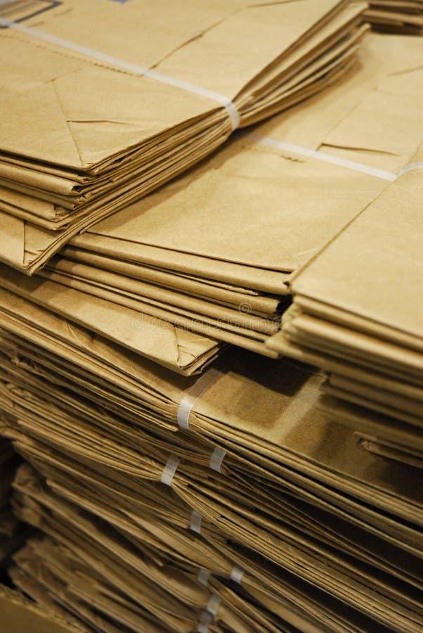 Brown-Papiertüten lizenzfreies stockbild
