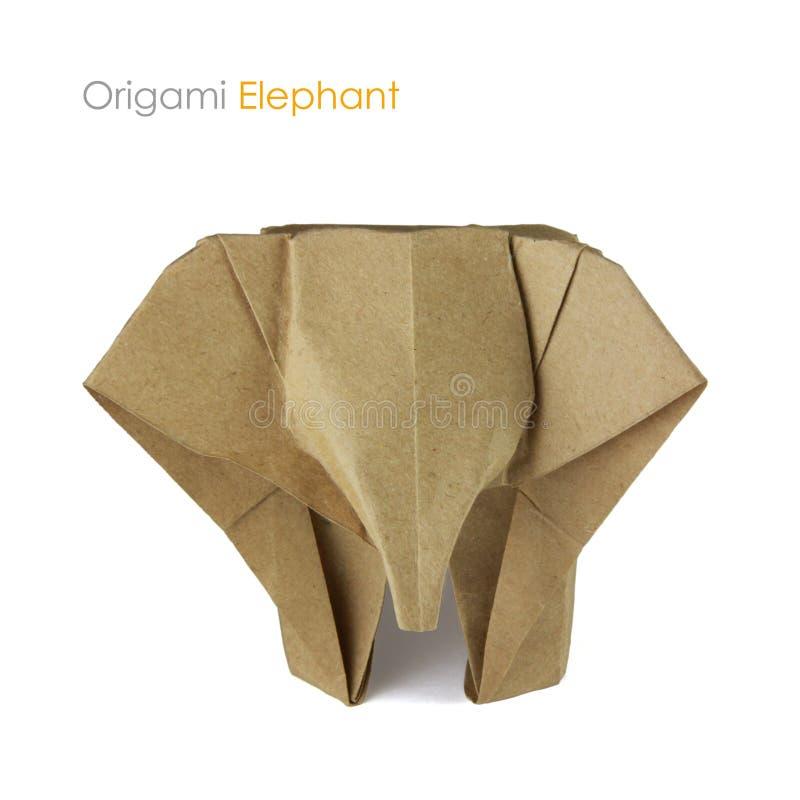 Brown papieru origami elaphant obrazy royalty free