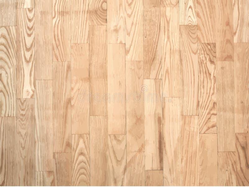 Brown parqueted podłoga, drewniana tekstura z royalty ilustracja