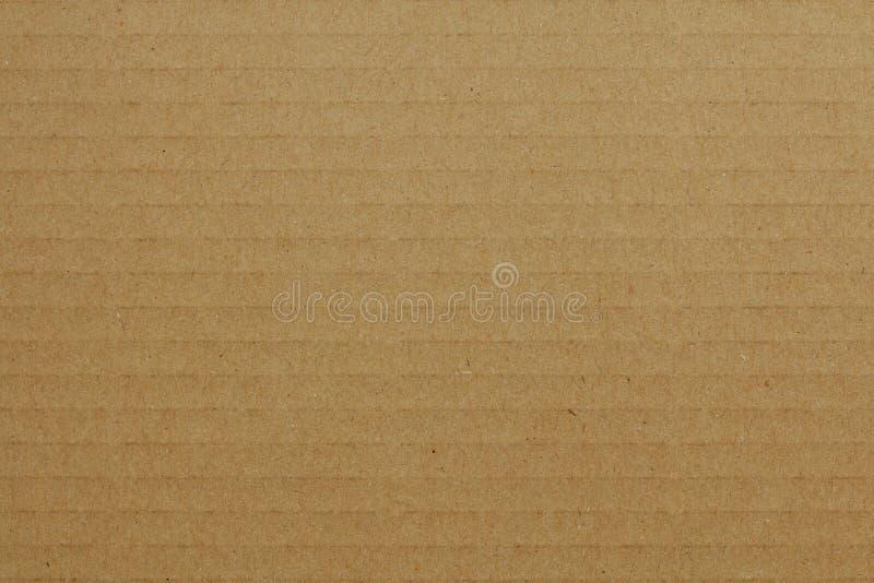 Brown paskował rzemiosło papierową teksturę lub rocznika tło zdjęcie stock