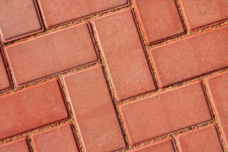 Brown paving tile for background or texture royalty free stock photography