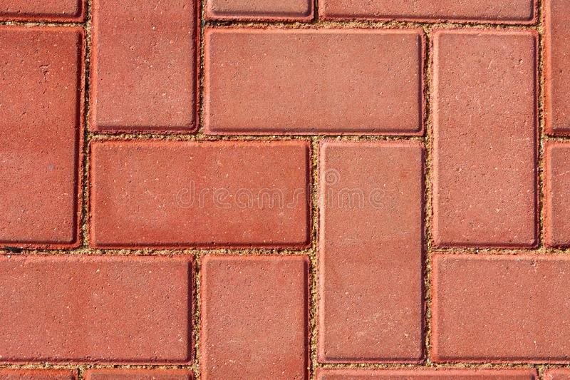 Brown paving tile for background or texture stock photos