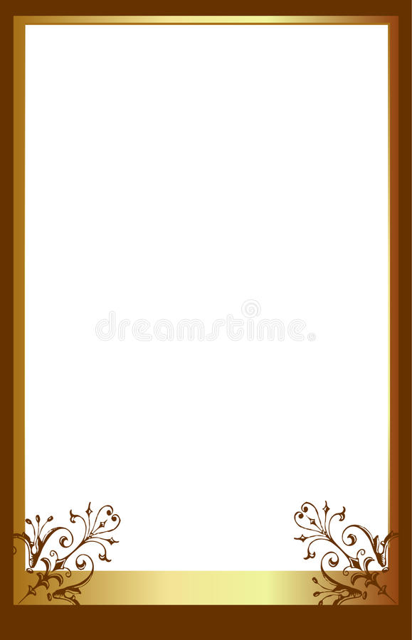 Brown photo frame. A brown photo frame perfect for inserting your own picture to make a personalised picture frame. Great for gifts, momentos and creating a vector illustration