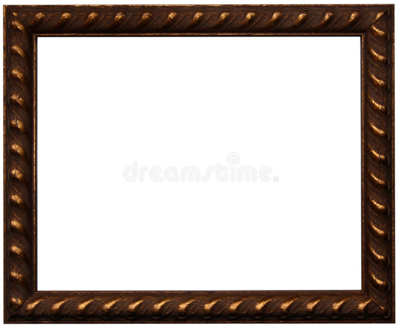 Download Brown photo frame stock photo. Image of border, home - 28674174