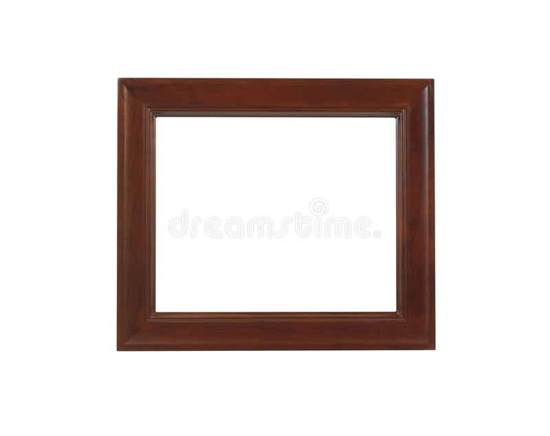 A brown picture frame, isolated with clipping path