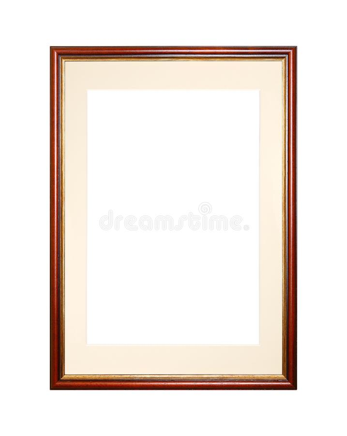 Brown picture or photo frame with cardboard mat stock photography