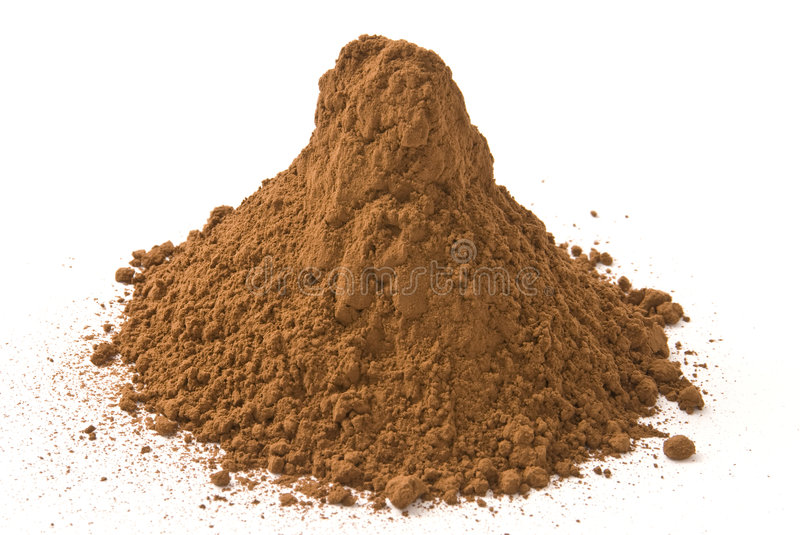 Brown pigment. A bunch of brown pigment royalty free stock photography