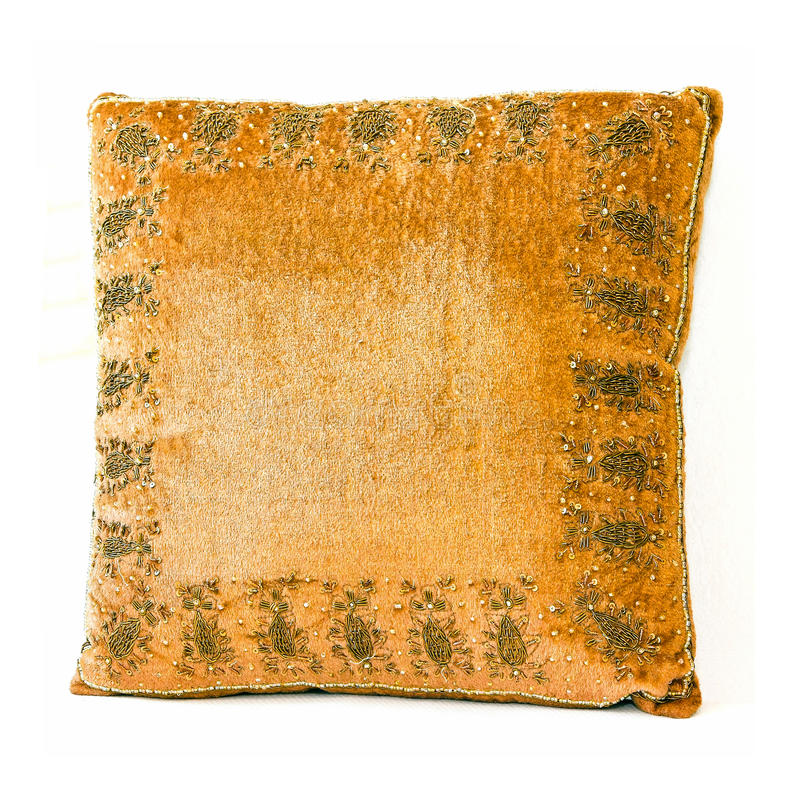Download Brown pillow stock photo. Image of material, soft, plush - 15088748