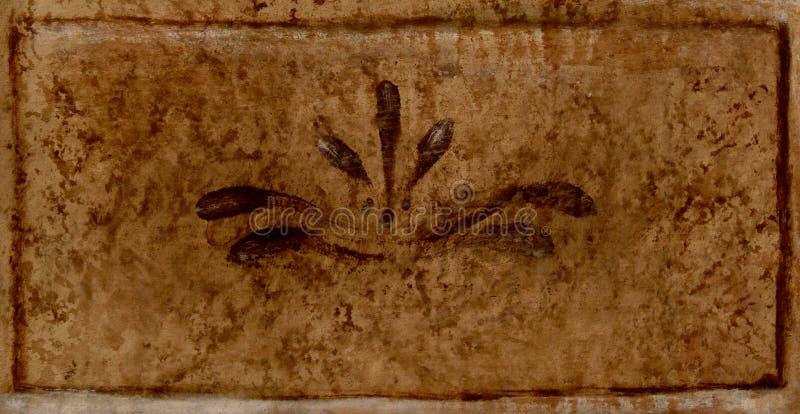 Brown pintó el fondo fotos de archivo
