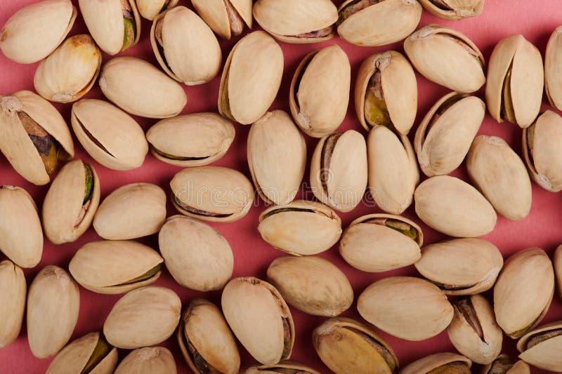 Brown pistachio shells royalty free stock photos
