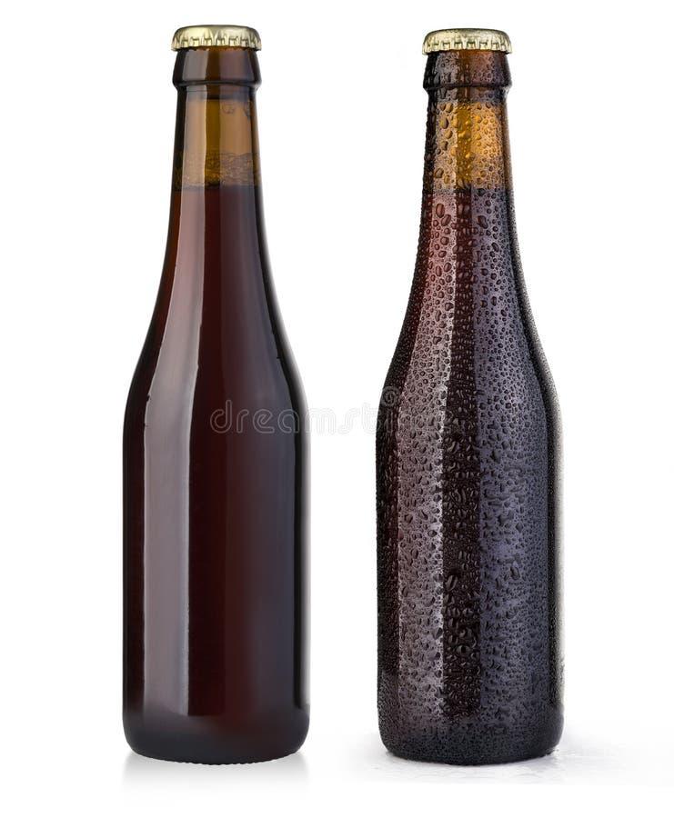 Brown piwna butelka obraz royalty free